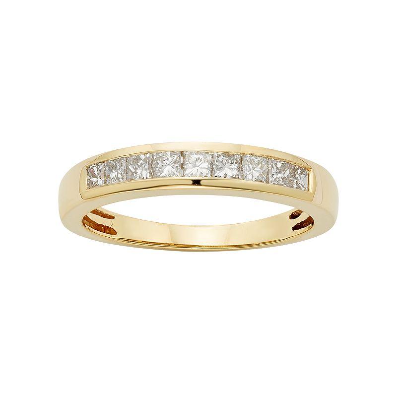 IGL Certified Diamond Wedding Ring in 14k Gold (1/2 Carat T.W.), Women's, Size: 9, White