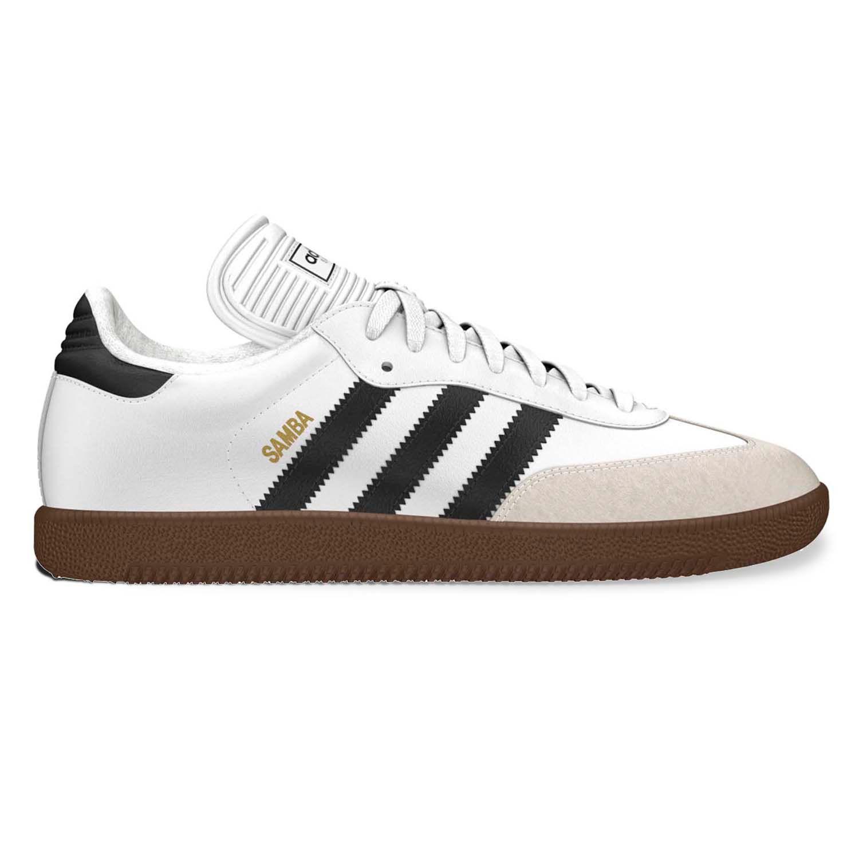 adidas Samba Indoor Soccer Shoes - Men. White Black Black White