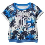 Juicy Couture Roll-Cuff French Terry Short-Sleeved Sweatshirt - Girls 7-16