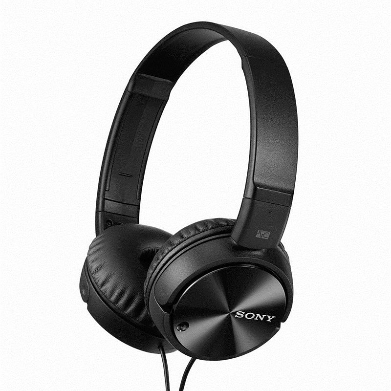Sony Noise Cancelling Headphones, Black Don't let outside noise interrupt your favorite song with these Sony noise cancelling headphones. Noise-free audio experience Enjoy rich, full frequency response Pressure-relieving cushions Swiveling ear cups fold for compact portability Tangle free cables High-energy magnets Long battery life Total noise suppression: approx. 13 dB Sensitivity: 115 dB/mW Driver unit: 30mm, closed dome type Frequency response: 10-22,000Hz Battery life: up to 80 hours Cord length: 47.25 inches Manufacturer's 90-day limited warrantyFor warranty information please click hereFor information about the modified return policy, please click here Model no. MDRZX110NC Size: One Size. Color: Black. Gender: Unisex. Age Group: Adult.