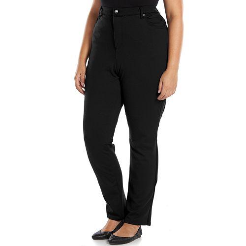 88d47ccd13cfb Plus Size Gloria Vanderbilt Amanda Ponte Pants