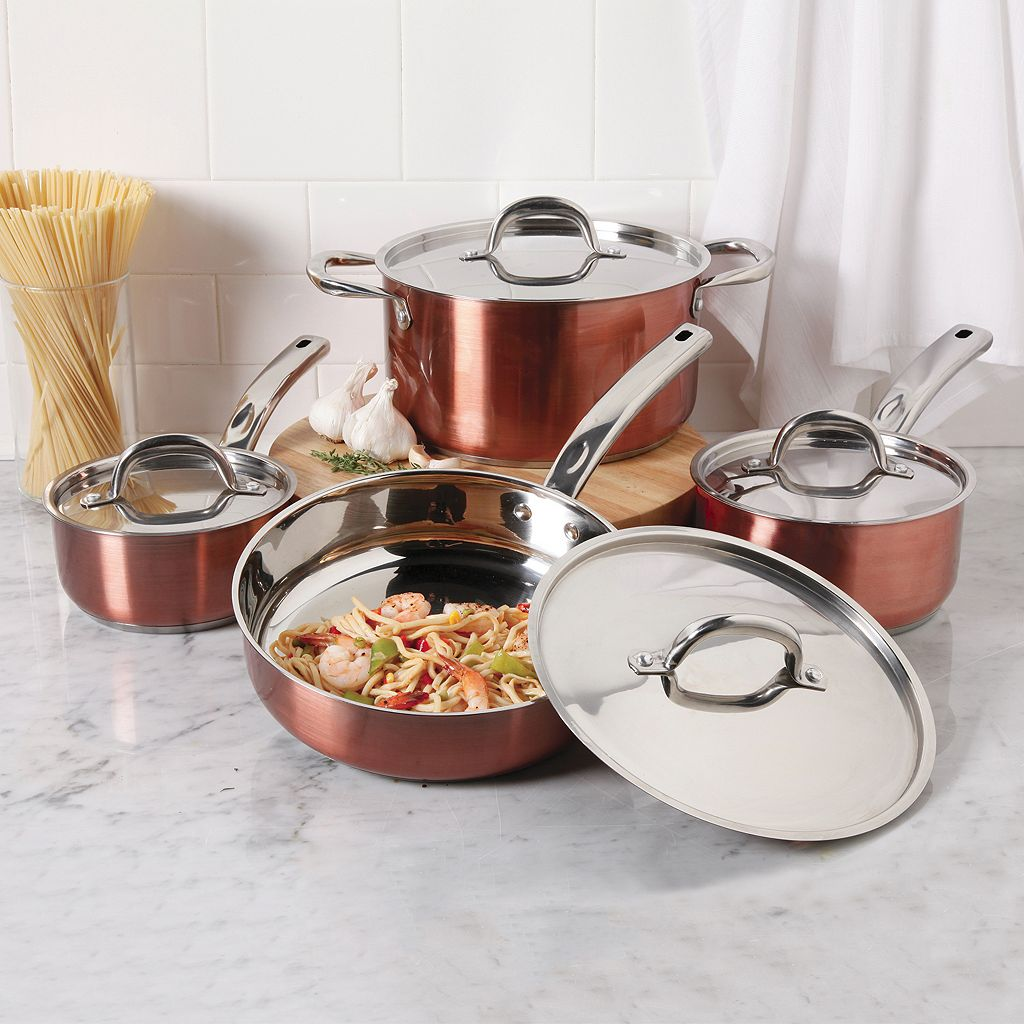 Oster Brookfield 8-pc. Copper Cookware Set