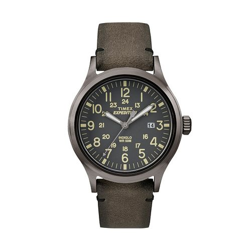 Timex Men's Expedition Scout Leather Watch - TW4B01700JT