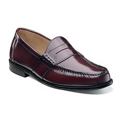 Nunn Bush Kent Men's Moc Toe Penny Loafer Dress Shoes