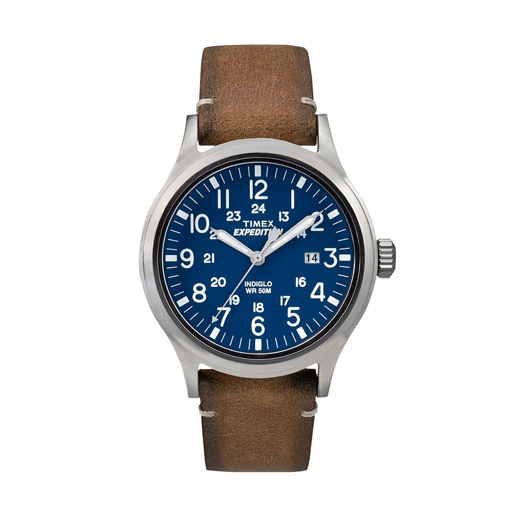 Timex Men's Expedition Scout Leather Watch - TW4B01800JT