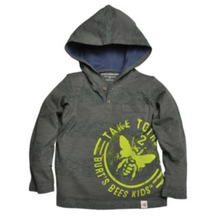 "Toddler Boy Burt's Bees Baby Organic ""Take To the Sky"" Hooded Henley"
