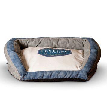K&H Pet Genuine Logo Medium Bolster Couch Pet Bed
