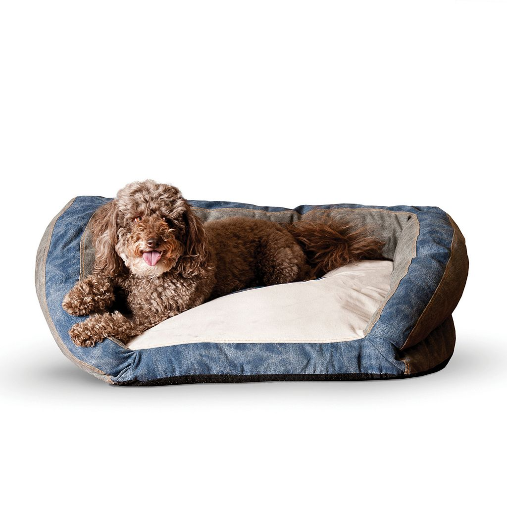 K&H Pet Genuine Logo Medium Bolster Couch Pet Bed