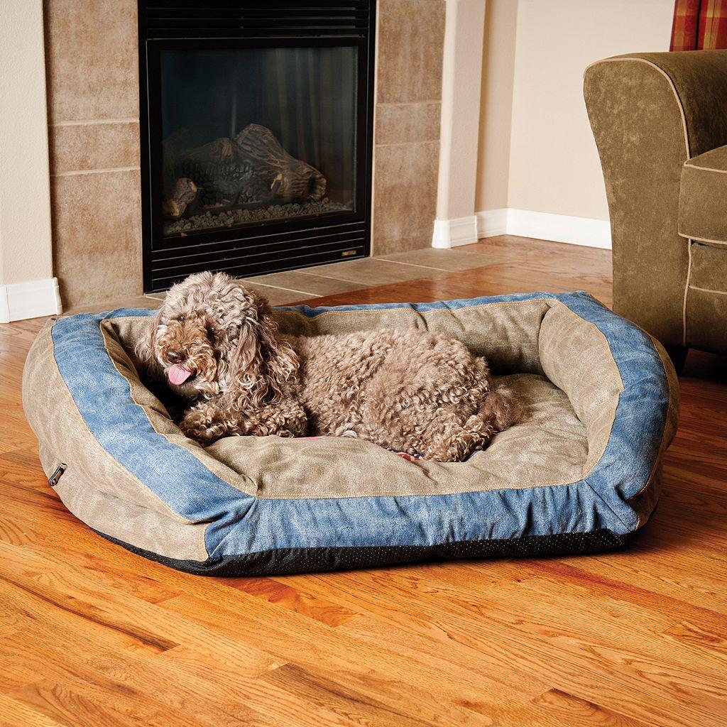 K&H Pet Premium Logo Bolster Couch Pet Bed