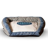 K&H Pet Genuine Logo Large Bolster Couch Pet Bed