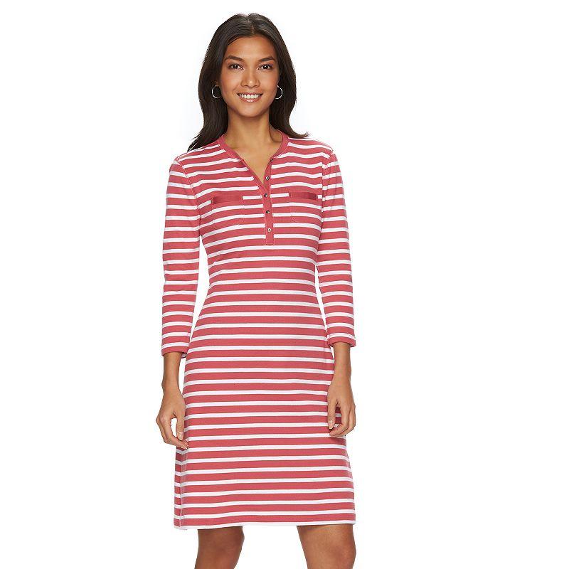 Petite Chaps Striped Shirtdress