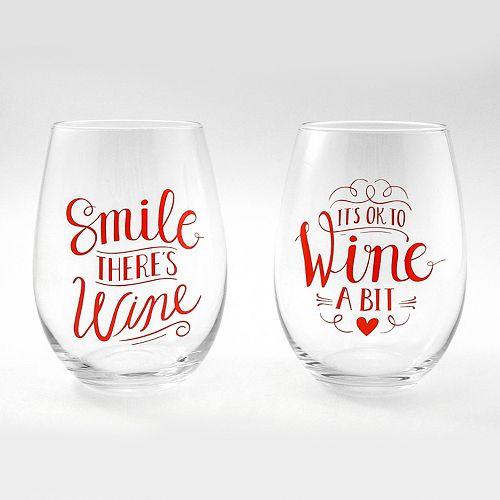 Valentine's 2-pc. Stemless Wine Glass Set