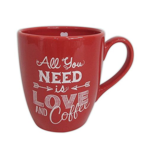 """Celebrate Valentine's Day Together """"All You Need Is Love"""" 14-oz. Coffee Mug"""