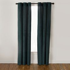 Westgate 1-Panel V Topcord Velvet Window Curtain - 50'' x 84''