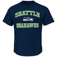 Big & Tall Majestic Seattle Seahawks Heart & Soul II Tee