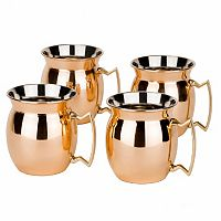 Old Dutch Flared 4-pc. Copper Moscow Mule Mug Set