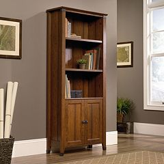 Sauder Carson Forge Library 3-Shelf Bookcase