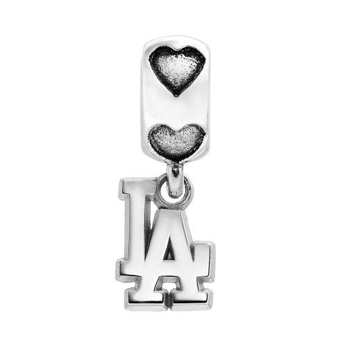 LogoArt Los Angeles Dodgers Sterling Silver Team Logo Charm