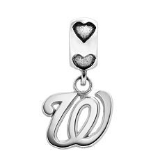 LogoArt Washington Nationals Sterling Silver Team Logo Charm