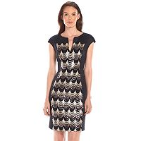 Connected Apparel Sequin Scuba Sheath Dress - Women's