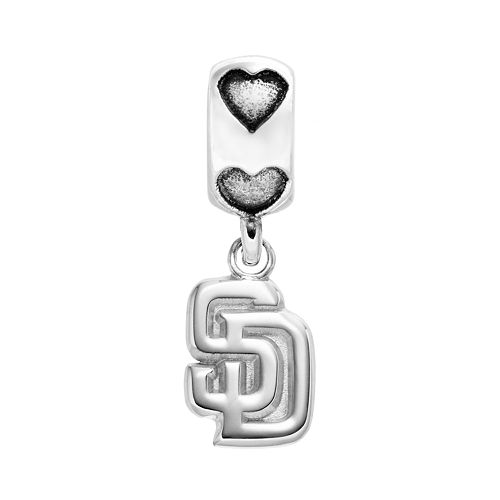 LogoArt San Diego Padres Sterling Silver Team Logo Charm