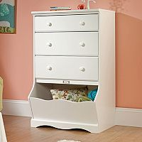 Sauder Pogo 3-Drawer White Dresser