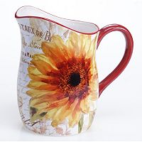 Certified International Paris Sunflower 3-qt. Pitcher