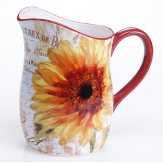 Certified International Paris Sunflower 3-qt. Pitcher