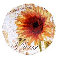 Certified International Paris Sunflower 15-in. Round Serving Platter