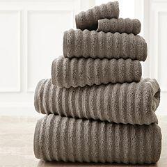 Spring Bloom 6-pc. Wavy Luxury Spa Collection Cotton Bath Towel Set