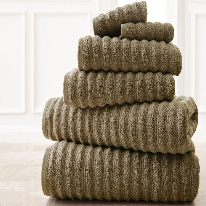 Bloom 6pc Wavy Luxury Spa Collection Cotton Bath Towel Set