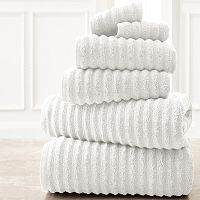 Spring Bloom 6-pc. Wavy Luxury Spa Collection Cotton Bath Towel Set