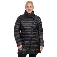 Plus Size Champion Asymmetrical Puffer Jacket