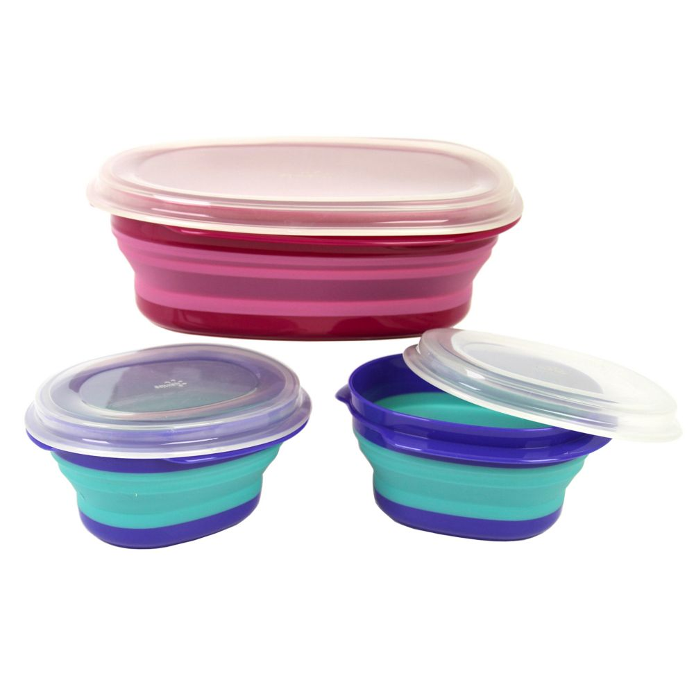 Squish 6 pc Collapsible Food Storage Container Set