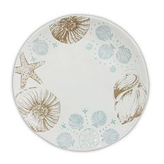 Celebrate Local Life Together Coastal Seashell 10.5-in. Dinner Plate