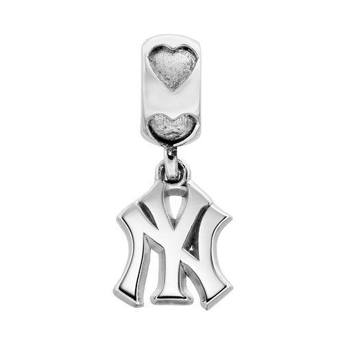 LogoArt New York Yankees Sterling Silver Team Logo Charm