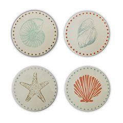 Celebrate Local Life Together Coastal 4-pc. Coaster Set