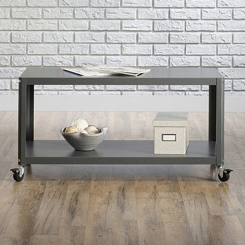 Sauder Square Coffee Table Cart