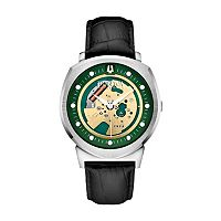 Bulova Men's Accutron II Leather Skeleton Watch - 96A155