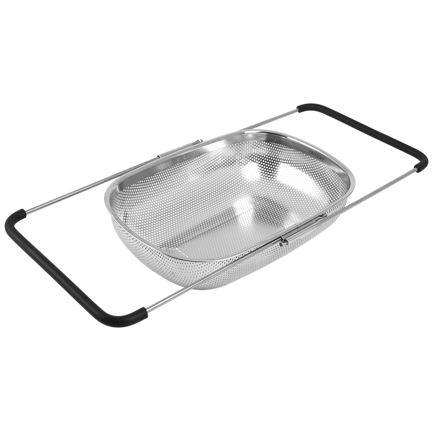 Over The Sink Stainless Steel Colander