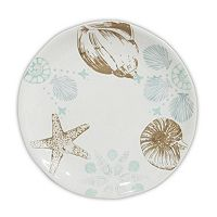 Celebrate Local Life Together Coastal Seashell 8.5 in Salad Plate