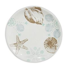 Celebrate Local Life Together Coastal Seashell 8.5-in. Salad Plate