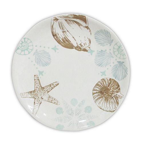Celebrate Local Life Together Coastal Seashell 8.5-in. Salad Plate