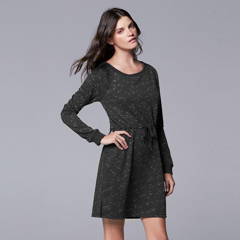 Women's Simply Vera Vera Wang Simply Breathe Space-Dye Sweaterdress