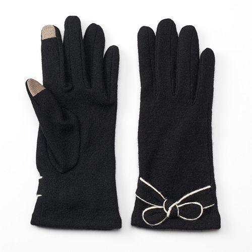 Manhattan Accessories Co. Women's Wool Blend Bow Gloves