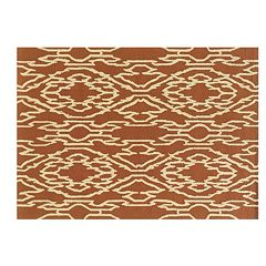 Linon Le Soleil Geometric Lines Indoor Outdoor Rug