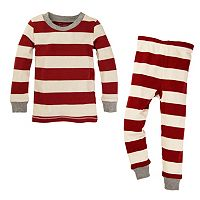 Toddler Burt's Bees Baby Organic Rugby Striped Family Pajama Set
