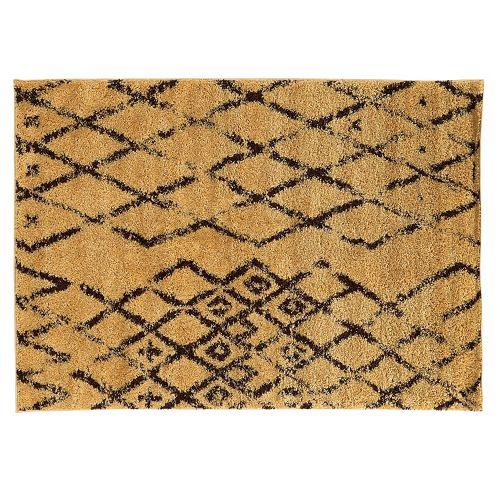 Shop Linon Moroccan Mekenes Camel Brown Rug: Linon Moroccan Marrakesh Shag Rug