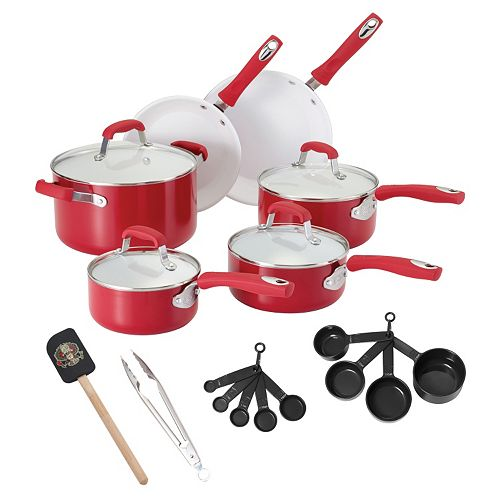 Guy Fieri 21-pc. Ceramic Nonstick Cookware Set