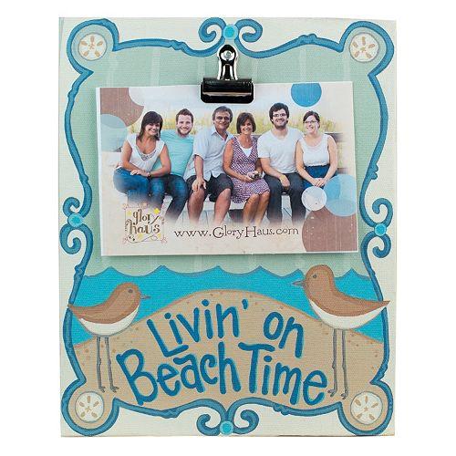 "Glory Haus ""Livin' on Beach Time"" 1-Photo Clip Wall Decor"
